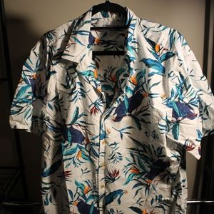 Men's Old Navy Print Short Sleeve Button Up